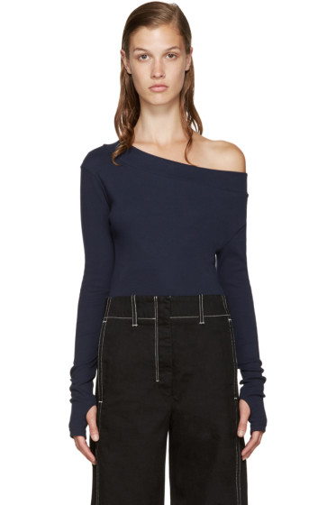 Jacquemus - Navy Single-Shoulder T-Shirt