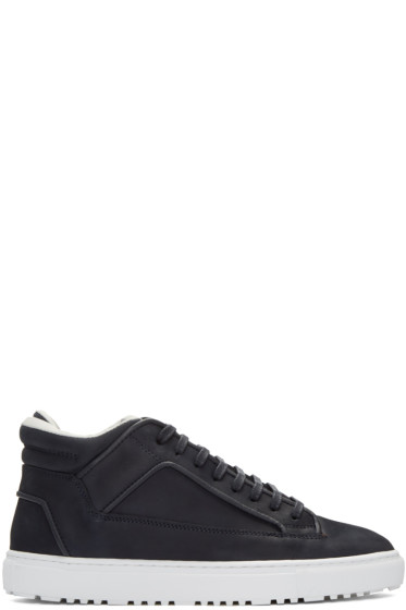 ETQ Amsterdam - Navy Suede Mid 2 Sneakers