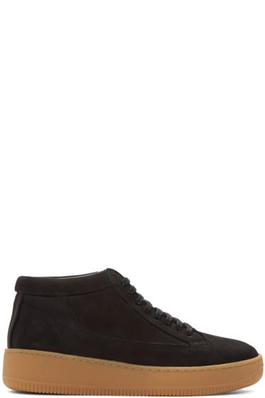 ETQ Amsterdam - SSENSE Exclusive Black Suede Mid 1 Sneaker