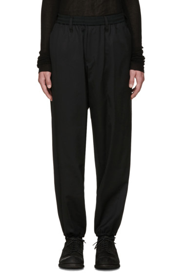 Yohji Yamamoto - Black Elastic Waistband Trousers