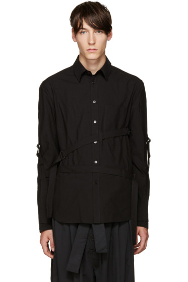 Yohji Yamamoto - Black Straps Shirt