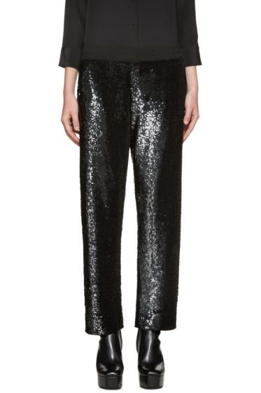 Ashish - SSENSE Exclusive Black Sequin Lounge Pants