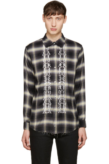 Christian Dada - Black Classic Cut-Off Shirt