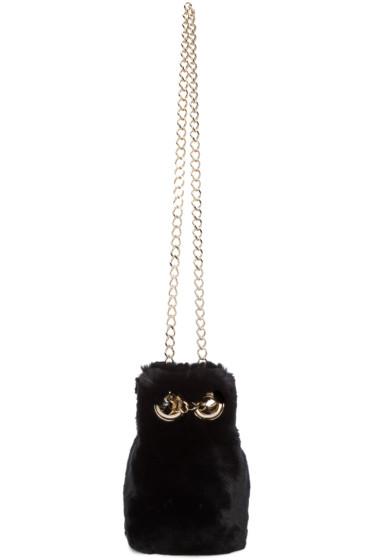 Yves Salomon - Black Fur Bucket Bag