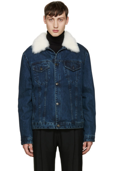 Yves Salomon - Indigo Denim & Shearling Jacket