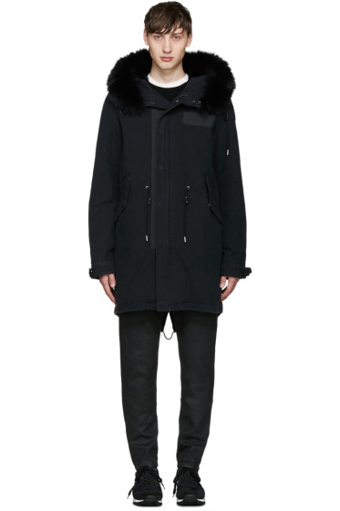 Yves Salomon - Black Fur Fishtail Parka