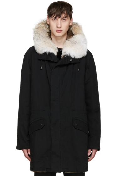 Yves Salomon - Black Original Parka