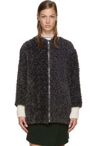 Isabel Marant Etoile - Grey Faux Fur Easy Abril Coat