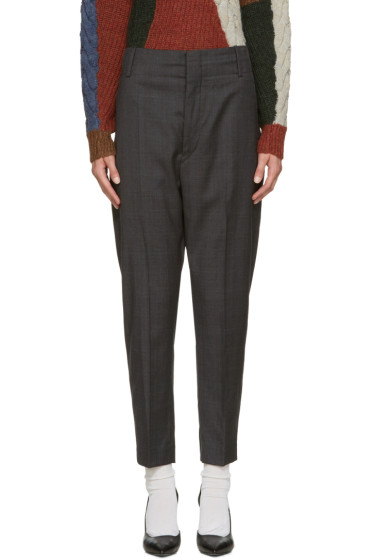 Isabel Marant Etoile - Grey Check Noah Trousers