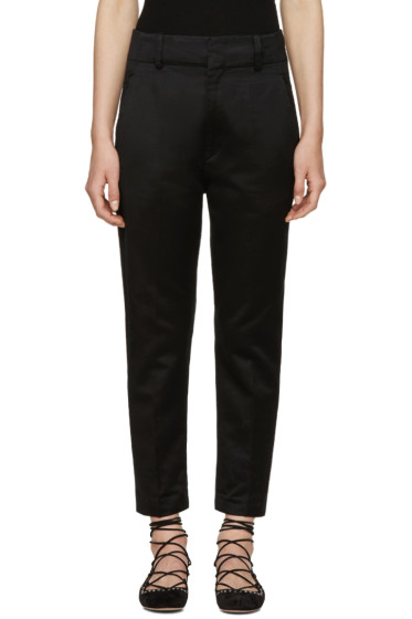 Isabel Marant Etoile - Black High-Rise Moah Trousers