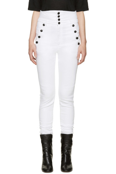 Isabel Marant - White High-Rise Marvin Jeans