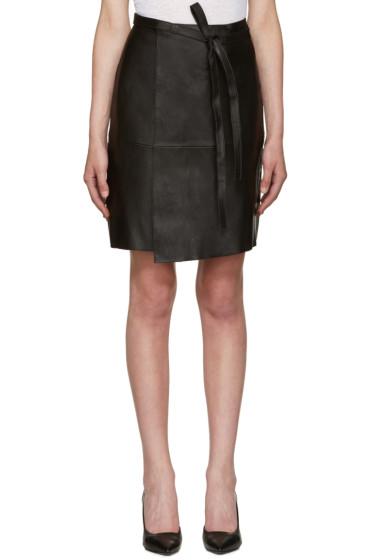 Isabel Marant - Black Leather Coy Skirt