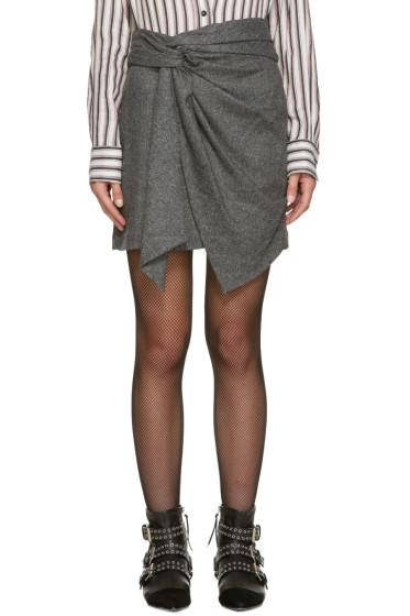Isabel Marant - Grey Herringbone Kim Miniskirt