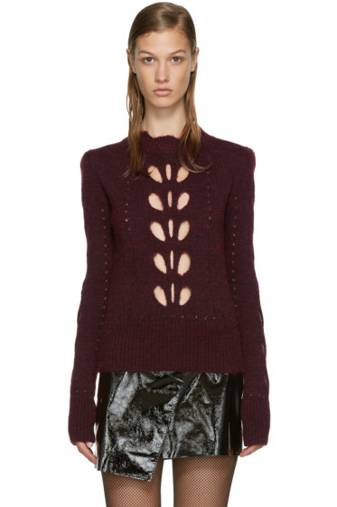 Isabel Marant - Burgundy Cut-Out Ilia Sweater