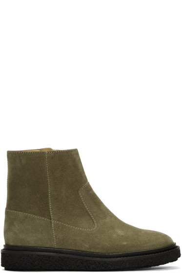 Isabel Marant - Taupe Suede Connor Creeper Boots