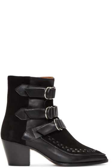 Isabel Marant - Black Dickey Mod Boots