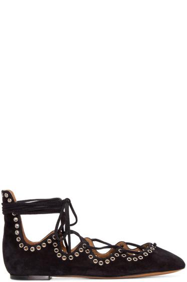 Isabel Marant - Black Suede Leoni Ballerina Flats