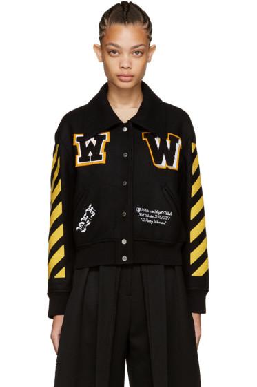 Off-White - Black Varsity Jacket