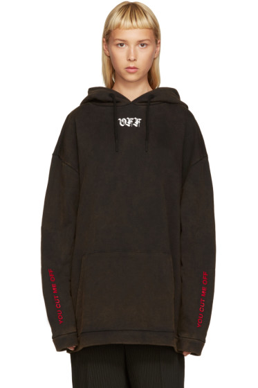 Off-White - Black 'Cut Off' Hoodie