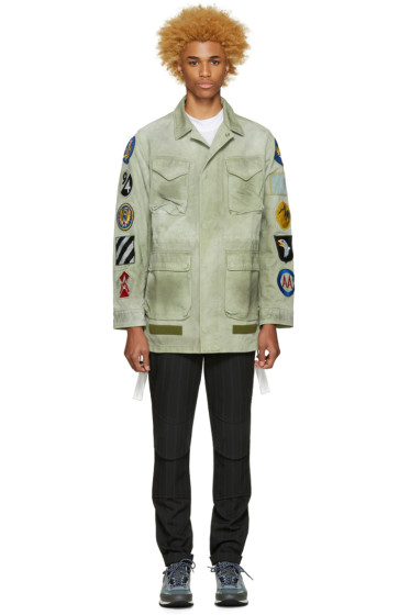 Off-White - Green Canvas Patches Jacket