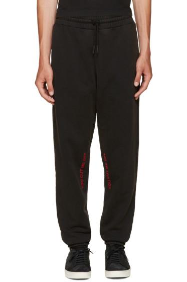 Off-White - Black 'Cut-Off' Lounge Pants