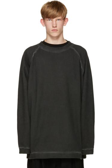 Off-White - Black Garment-Dye Pullover