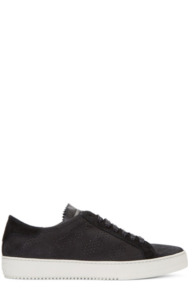 Off-White - Black Nubuck Sneakers