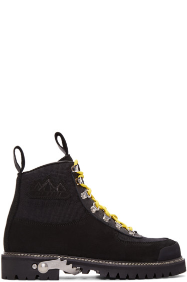 Off-White - Black Cordura Hiking Boots