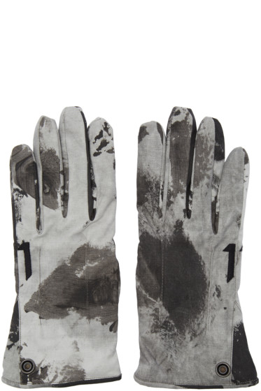 11 by Boris Bidjan Saberi - Black Camo Wash Gloves