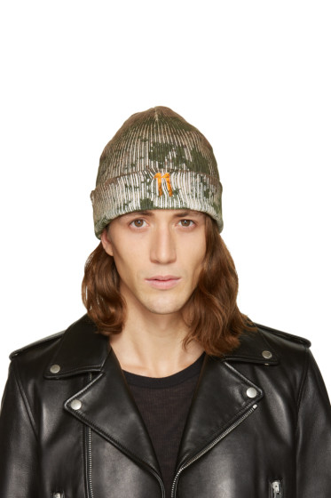 11 by Boris Bidjan Saberi - Green Camo Wash Beanie