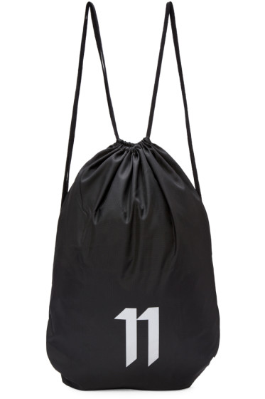 11 by Boris Bidjan Saberi - SSENSE Exclusive Black Drawstring Bag
