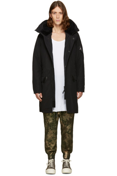 11 by Boris Bidjan Saberi - Black Hooded Coat