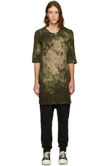 11 by Boris Bidjan Saberi -  Green Camo Wash T-Shirt