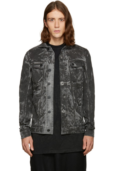 11 by Boris Bidjan Saberi - Black Camo Wash Denim Jacket