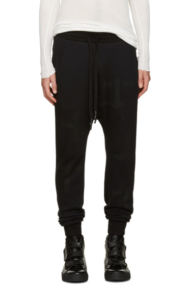 11 by Boris Bidjan Saberi - Black T Pattern Lounge Pants