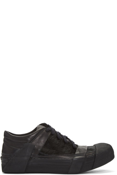 Boris Bidjan Saberi - Black Calf-Hair Sneakers
