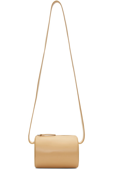 Building Block - Beige Cylinder Sling Bag