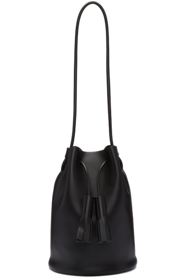 Building Block - Black Tassel Bucket Bag