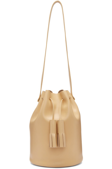 Building Block - Beige Tassel Bucket Bag
