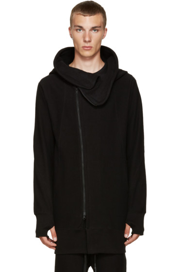 Nude:mm - Black Zip-Up Hoodie