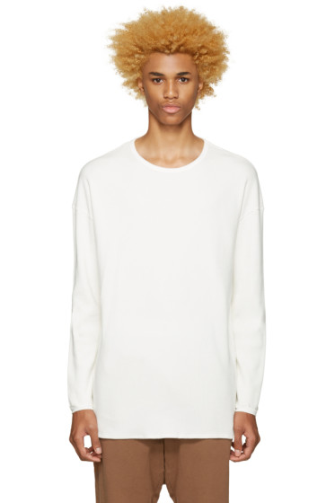 Undecorated Man - Off-White Waffle Cotton T-Shirt