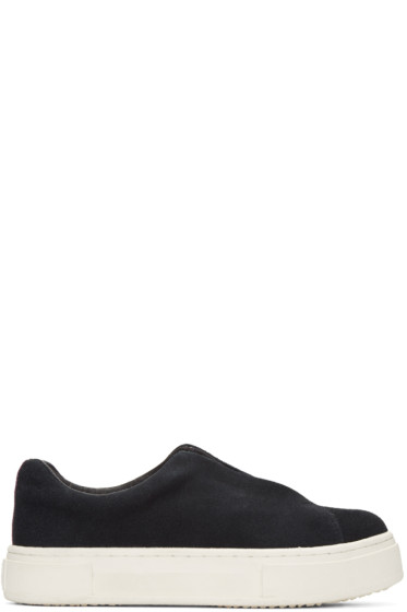 Eytys - Black Suede Doja Slip-On Sneakers