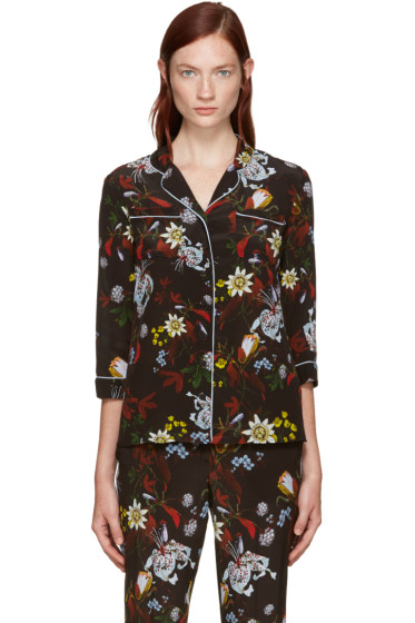 Erdem - Black Silk Ray Shirt