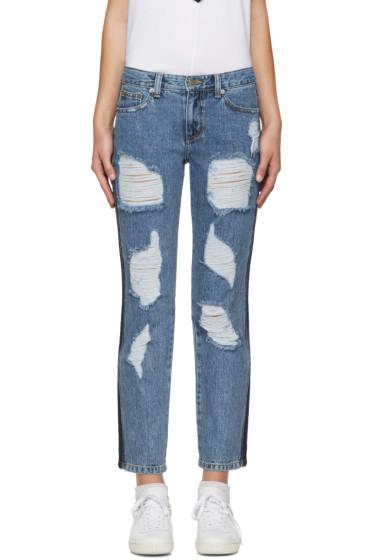 SJYP - Blue Destroyed Jeans