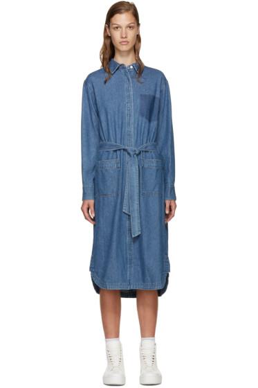 SJYP - Blue Denim Belted Shirt Dress