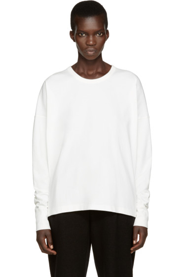 Lemaire - White Long Sleeve T-Shirt
