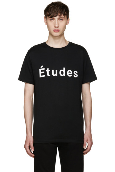 Etudes - Black Logo T-Shirt