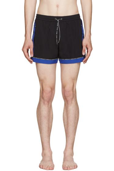 Versace Underwear - Black & Blue Swim Shorts