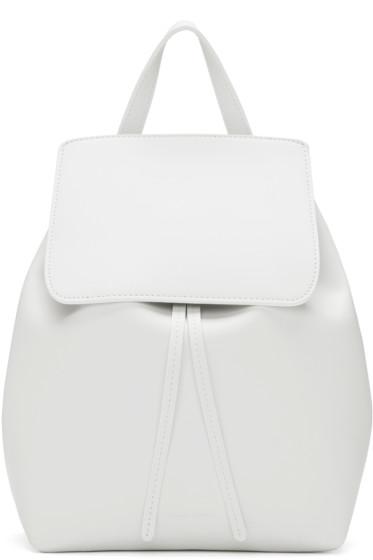 Mansur Gavriel - White Leather Mini Backpack