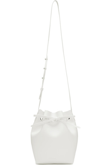 Mansur Gavriel - White Leather Mini Bucket Bag